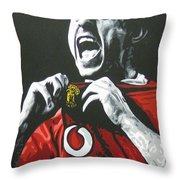 Gary Neville - Manchester United Fc Throw Pillow