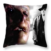 Gary Oldman And Anthony Hopkins In The Film Hanibbal By Ridley Scott Throw Pillow