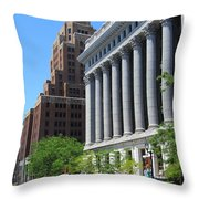 Gas Building And Nml Tall Throw Pillow