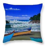 Gas Chambers  Puerto Rico Throw Pillow