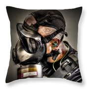Gas Gas Gas Throw Pillow by David Morefield