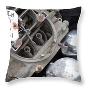 Gas In Throw Pillow