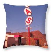 Gas Throw Pillow