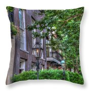Gas Light Glow Throw Pillow