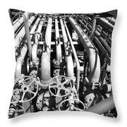 Gas Lines Throw Pillow