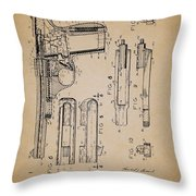 Gas Operated Semi-automatic Pistol Throw Pillow