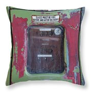 Gas Pump Throw Pillow