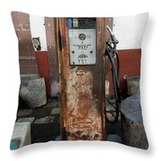 Gas Pump Color Throw Pillow