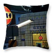 Gas Station 2 Throw Pillow