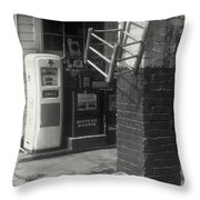 Gas Station Abstract Throw Pillow