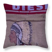 Gas Station Indian Chief Throw Pillow
