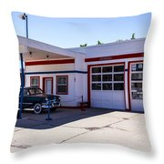 Gas Station Museum Throw Pillow
