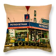 Gas Station Vietnam Style Throw Pillow