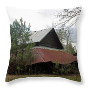 Gaskins Family Barn Series II Throw Pillow