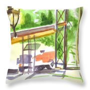 Gaslight At The Truck Stop Throw Pillow