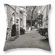 Gaslight Court Chicago Old Town Throw Pillow