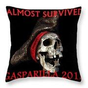 Gasparilla 2013 Postertshirt Work B Throw Pillow