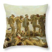 Gassed    An Oil Study Throw Pillow