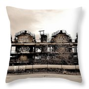 Gasworks Seattle Throw Pillow by Benjamin Yeager