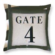 Gate #4 Throw Pillow