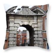 Gate Of Justice - Dublin Castle Throw Pillow