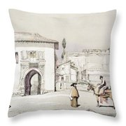 Gate Of The Vine , From Sketches Throw Pillow