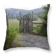 Gate To Peaceful Paradise Throw Pillow