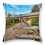 Gated Community Country Style Throw Pillow