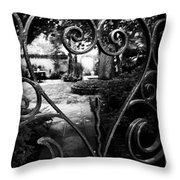 Gated Heart Throw Pillow by Kelly Hazel