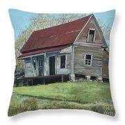Gates Chapel - Ellijay Ga - Old Homestead Throw Pillow
