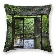Gates Of Tranquility Throw Pillow