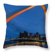 Gateshead At Night Throw Pillow