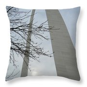 Gateway Arch In Spring Throw Pillow