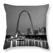 Gateway Arch In St Louis Throw Pillow