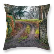 Gateway To Autumn Throw Pillow