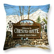 Gateway To Grandeur Throw Pillow