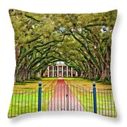 Gateway To The Old South Paint Throw Pillow by Steve Harrington