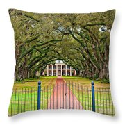 Gateway To The Old South Throw Pillow by Steve Harrington
