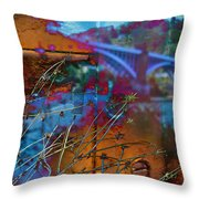 Gateway To The Rustbelt Throw Pillow