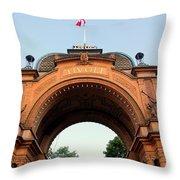 Gateway To Tivoli Gardens Throw Pillow