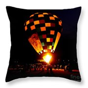Gathering For Night Glow Throw Pillow