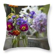 Gathering Wildflowers Throw Pillow