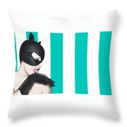 Sexy Catwoman Throw Pillow