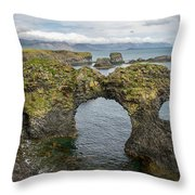 Gatklettur Arch In Hellnar Throw Pillow