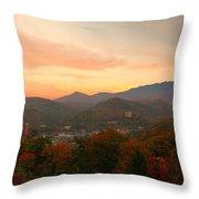 Gatlinburg Overlook Sunset Throw Pillow