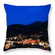 Gatlinburg Skyline At Night Throw Pillow
