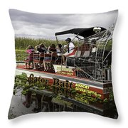 Gator Bait Throw Pillow