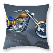 Gator Chopper Throw Pillow