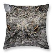 Gator Eyes Throw Pillow