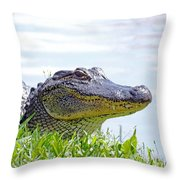 Gator Smile Throw Pillow